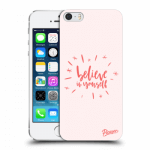Picasee Apple iPhone 5/5S/SE Hülle - Transparentes Silikon - Believe in yourself