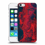 Picasee Apple iPhone 5/5S/SE Hülle - Transparentes Silikon - Organic red
