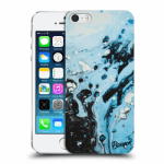 Picasee Apple iPhone 5/5S/SE Hülle - Transparentes Silikon - Organic blue
