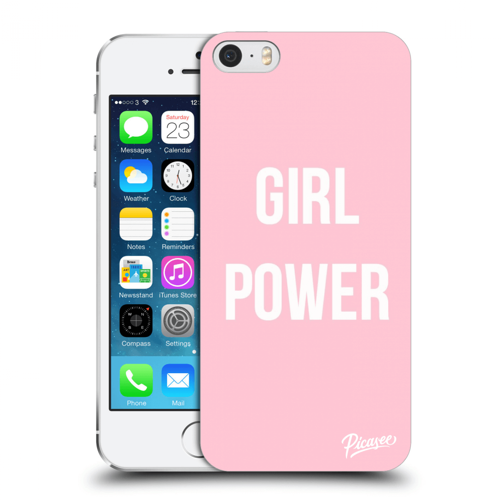 Picasee Apple iPhone 5/5S/SE Hülle - Transparentes Silikon - Girl power