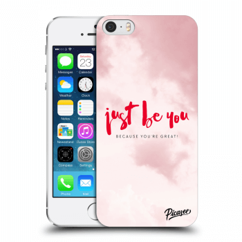 Picasee Apple iPhone 5/5S/SE Hülle - Transparenter Kunststoff - Just be you