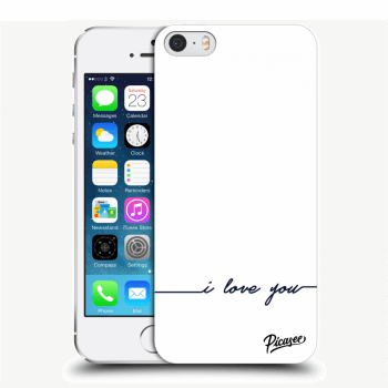 Picasee Apple iPhone 5/5S/SE Hülle - Transparenter Kunststoff - I love you