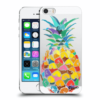 Picasee Apple iPhone 5/5S/SE Hülle - Transparentes Silikon - Pineapple
