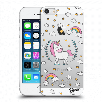 Picasee Apple iPhone 5/5S/SE Hülle - Transparentes Silikon - Unicorn star heaven