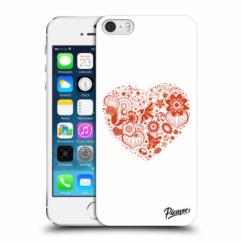 Picasee Apple iPhone 5/5S/SE Hülle - Transparenter Kunststoff - Big heart