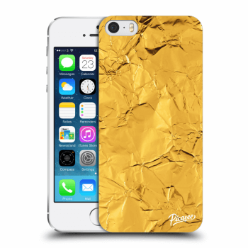 Picasee Apple iPhone 5/5S/SE Hülle - Transparentes Silikon - Gold
