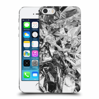 Picasee Apple iPhone 5/5S/SE Hülle - Transparentes Silikon - Chrome
