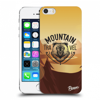 Picasee Apple iPhone 5/5S/SE Hülle - Transparenter Kunststoff - Mountain bear