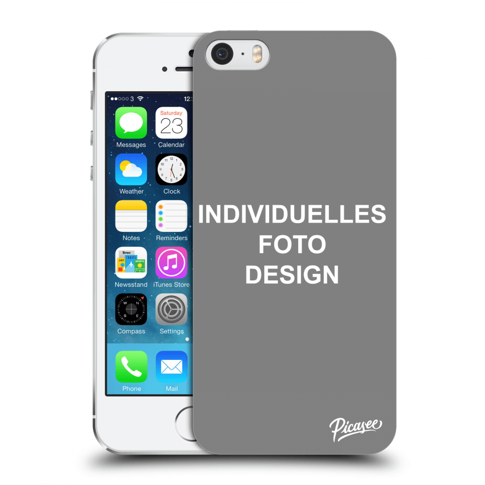 Picasee Apple iPhone 5/5S/SE Hülle - Transparentes Silikon - Individuelles Fotodesign