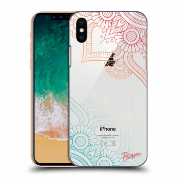 Hülle für Apple iPhone X/XS - Flowers pattern