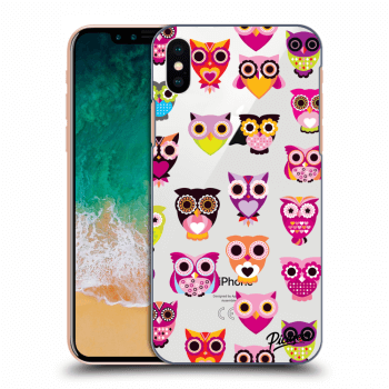 Hülle für Apple iPhone X/XS - Owls