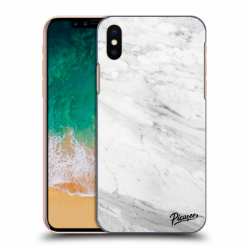 Hülle für Apple iPhone X/XS - White marble