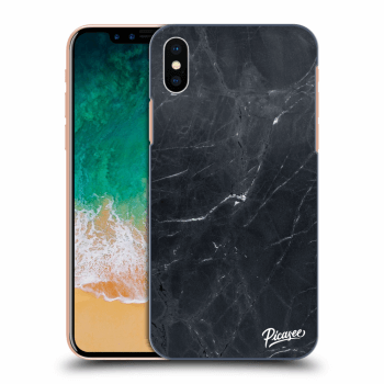 Hülle für Apple iPhone X/XS - Black marble