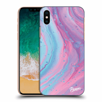 Hülle für Apple iPhone X/XS - Pink liquid