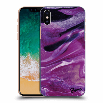 Hülle für Apple iPhone X/XS - Purple glitter