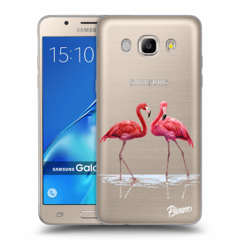 Hülle für Samsung Galaxy J5 2016 J510F - Flamingos couple