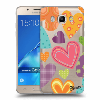 Hülle für Samsung Galaxy J5 2016 J510F - Colored heart