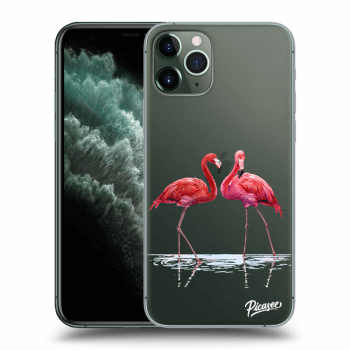 Hülle für Apple iPhone 11 Pro - Flamingos couple