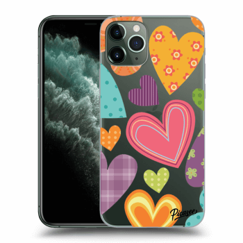 Hülle für Apple iPhone 11 Pro Max - Colored heart