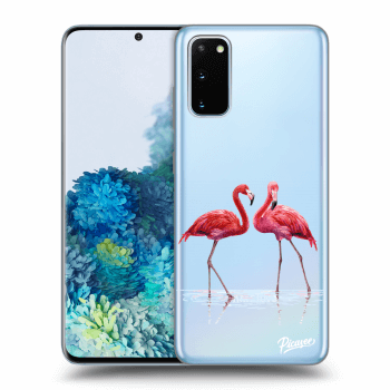 Hülle für Samsung Galaxy S20 G980F - Flamingos couple