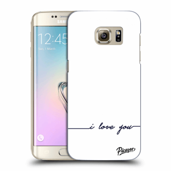 Hülle für Samsung Galaxy S7 Edge G935F - I love you