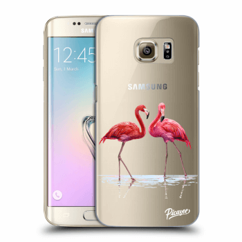 Hülle für Samsung Galaxy S7 Edge G935F - Flamingos couple
