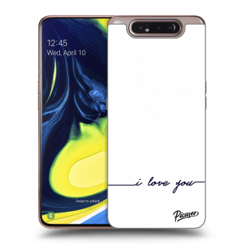 Hülle für Samsung Galaxy A80 A805F - I love you