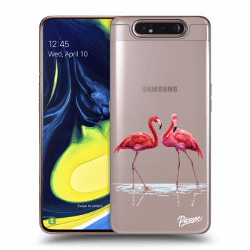 Hülle für Samsung Galaxy A80 A805F - Flamingos couple