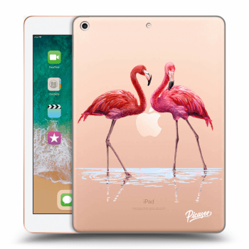 Hülle für Apple iPad 2018 (6. gen) - Flamingos couple
