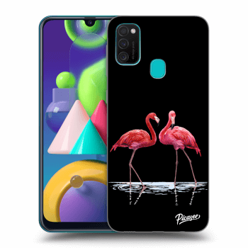Hülle für Samsung Galaxy M21 M215F - Flamingos couple