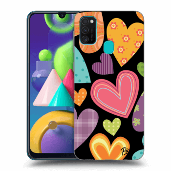 Hülle für Samsung Galaxy M21 M215F - Colored heart
