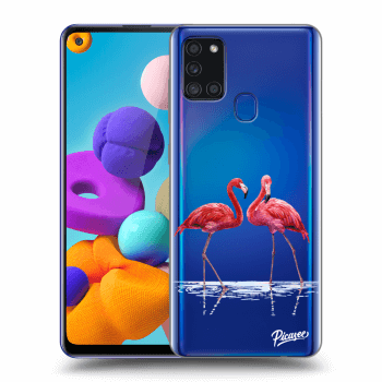 Hülle für Samsung Galaxy A21s - Flamingos couple