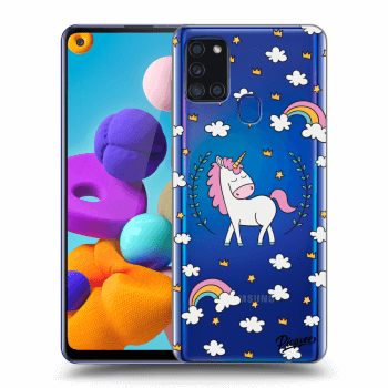Hülle für Samsung Galaxy A21s - Unicorn star heaven
