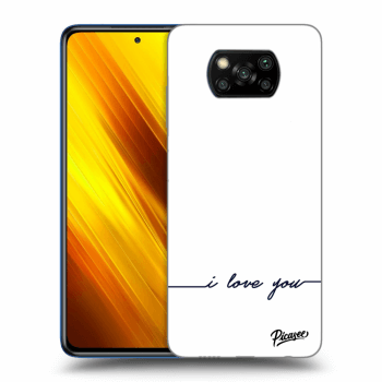 Hülle für Xiaomi Poco X3 - I love you