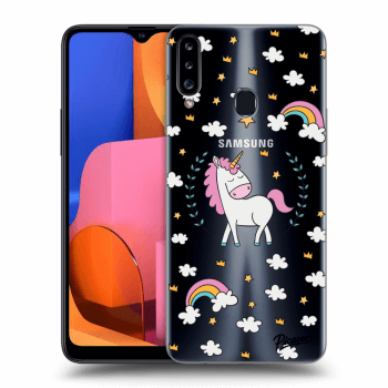 Hülle für Samsung Galaxy A20s - Unicorn star heaven