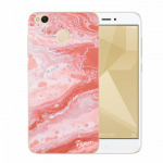 Picasee Xiaomi Redmi 4X Global Hülle - Transparentes Silikon - Red liquid