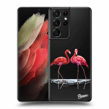 Hülle für Samsung Galaxy S21 Ultra G998B - Flamingos couple