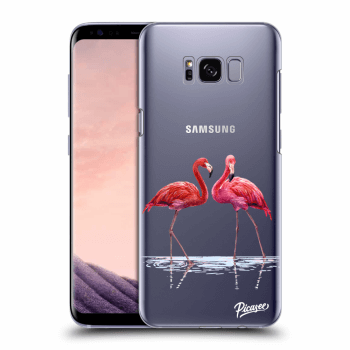 Hülle für Samsung Galaxy S8+ G955F - Flamingos couple