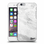 Picasee Apple iPhone 6/6S Hülle - Transparentes Silikon - White marble