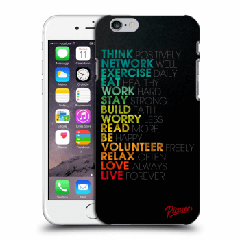 Picasee Apple iPhone 6/6S Hülle - Transparentes Silikon - Motto life