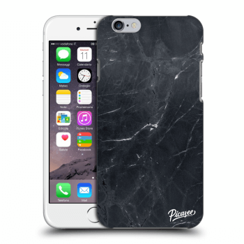 Picasee Apple iPhone 6/6S Hülle - Transparenter Kunststoff - Black marble