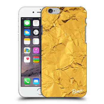 Picasee Apple iPhone 6/6S Hülle - Transparentes Silikon - Gold