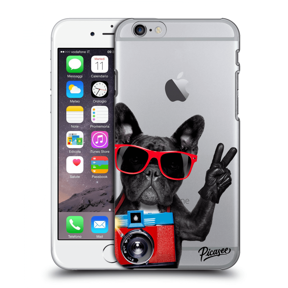 Picasee Apple iPhone 6/6S Hülle - Transparenter Kunststoff - French Bulldog
