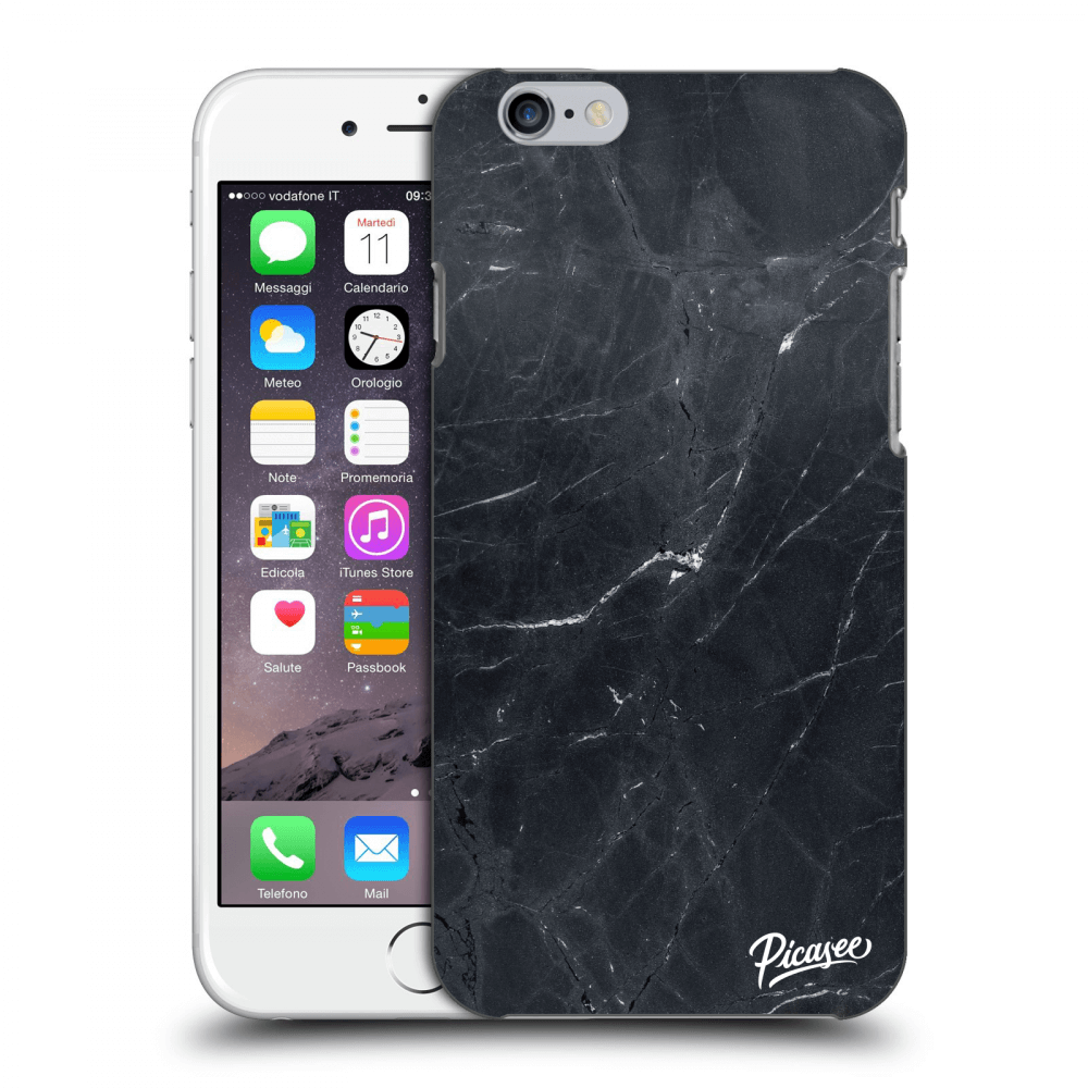 Picasee Apple iPhone 6/6S Hülle - Transparentes Silikon - Black marble