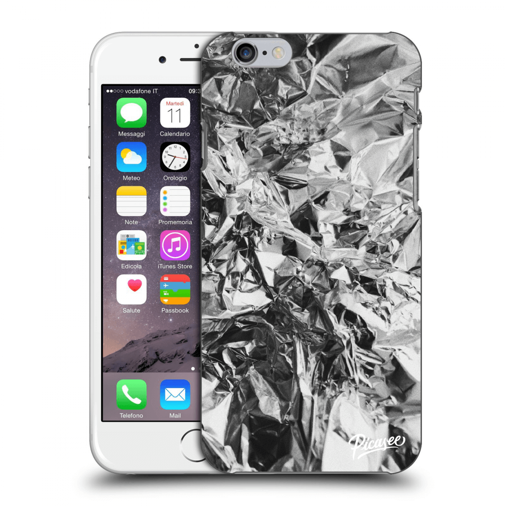 Picasee Apple iPhone 6/6S Hülle - Transparentes Silikon - Chrome