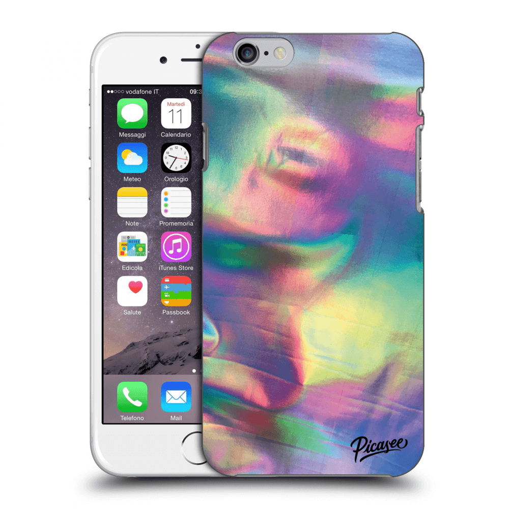 Picasee Apple iPhone 6/6S Hülle - Transparenter Kunststoff - Holo