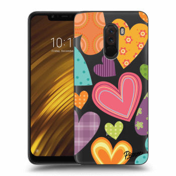 Hülle für Xiaomi Pocophone F1 - Colored heart