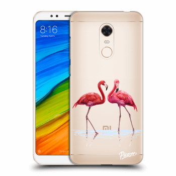 Hülle für Xiaomi Redmi 5 Plus Global - Flamingos couple