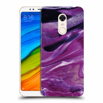 Hülle für Xiaomi Redmi 5 Plus Global - Purple glitter