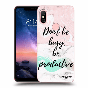 Hülle für Xiaomi Redmi Note 6 Pro - Don't be busy, be productive